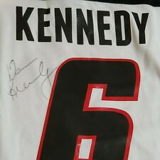 2011 Celebrity Classic DEAN KENNEDY GAME WORN SIGNED NHL #6 Winnipeg Jets B6N412