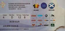 TICKET 16.10.2012 Belgien Belgium vs. Schottland Scotland