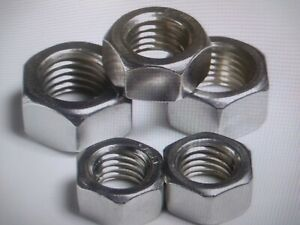 STAINLESS STEEL HEAVY HEX NUTS 1/2-13   50 PCS