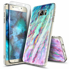 For Samsung Galaxy Note 5 Case Ultra Slim Shockproof Soft Cover + Tempered Glass