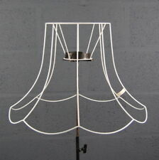 "21"" Single Scollop Traditional Victorian Wire DIY Lampshade Frame"