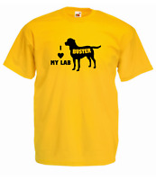 Personalised Printed Love Your Labrador Dog Name Mens Womans T Shirt 11 Colours
