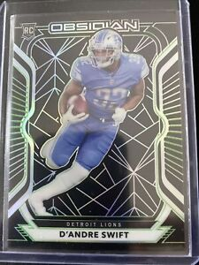 2020 Obsidian D'Andre Swift Green Electric Etch Rookie Card #15/50 Lions RC SSP