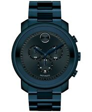 Movado Swiss Bold Blue Ion-Plated Stainless Steel Bracelet Watch 44mm 3600279