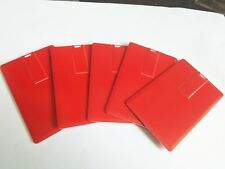 Lot 10 32GB Credit Card USB Flash Drive Red DIY 32G Memory Stick Wholesale Bulk