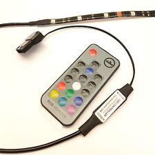 PC CASE RGB FLEXI LED STRIP COLOUR CHANGE LIGHT - 20cm STRIP