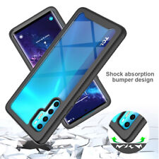 For TCL 20 Pro 5G, Luxury Shockproof Hybrid Armor Soft Bumper Acrylic Cover Case