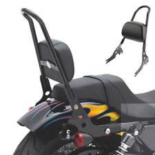 Passenger Backrest Pad Sissy Bar Cushion For Harley Iron Sportster XL1200 883