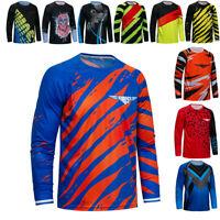 Men Cycling Jersey Downhill T-Shirt Long Sleeve Bike Motorcycle Bicycle Clothing