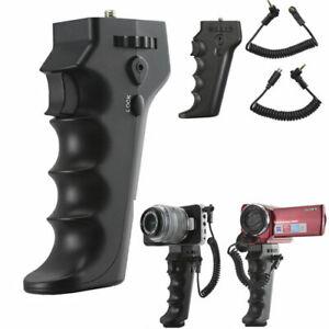 Handle Pistol Grip SONY camcorders W A/V R or LANC port & Blackmagic Camera HRDV