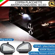 KIT PLACCHETTE LED CORTESIA SPECCHIETTI VW GOLF 6 VI 6000K ANTI POZZANGHERA
