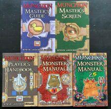 COMPLETE Munchkin d20 Steve Jackson Games ALL BOOKS Master Screen D&D 3rd RARE