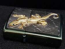 Zippo Lighter ● Golden Lizard Echse Chameleon ● Limited ● Neu New OVP ● C24