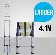 NEW 4.1M Alloy Telescopic Aluminium Ladder Alloy Extension Extendable Multi