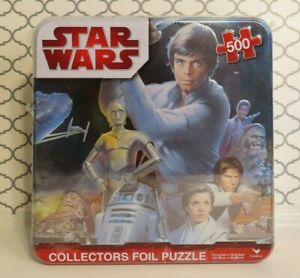 Star Wars Collectors Puzzle Set 500 Piece Foil Puzzle NEW