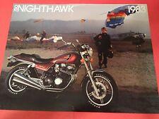 1983 Honda CB750 SC Nighthawk Motorcycle Sales Brochure - Literature