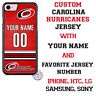 CAROLINA HURRICANES PHONE CASE COVER with NAME & No. FITS iPHONE SAMSUNG LG etc