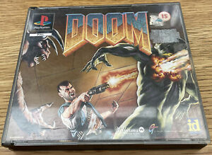 PS1 PlayStation 1 DOOM - PAL Game Complete Original Rare Big Box - Free UK PP