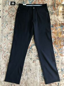 NWT FootJoy Golf Athletic Fit navy blue Performance Pants (size: 30x32)