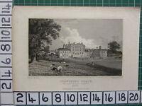 1830 Fecha Antigüedad Estampado ~ Chevening Place Asiento De Conde Stanhope ~