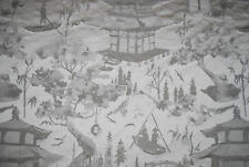 """""""Oriental Scene"""" soft furnishing fabric by John Lewis, natural, remnant of 1.5m"""