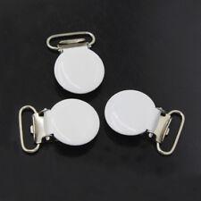 10 Pcs Round Metal Baby Pacifier Clips Holder Dummy Clip Bib Suspender New