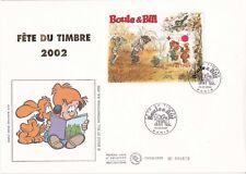 Enveloppe grand format 1er jour 2002 Fête du timbre Boule & Bill Bloc