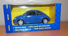 1:32 Scale Diecast Maisto Power Racer VW Volkswagen New Beetle Matte Blue