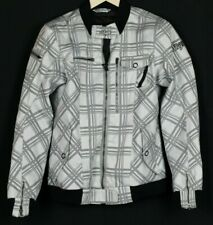 SHIFT Black And White Motorcycle Racing Jacket Armored Protection Mens Size M