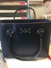 RARE NWT KATE SPADE Wellesley Quinn French Navy Leather Shoulder Hand Bag Purse