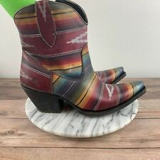 Ariat Circuit Cruz Womens Size 10 Multicolor Leather Saddle Blanket Boots