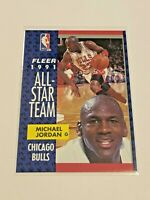 1991-92 Fleer Basketball All-Star Team #211 - Michael Jordan - Chicago Bulls