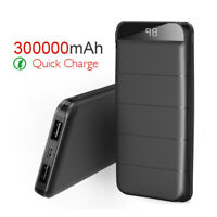 Portable 300000mAh LCD Power Bank External 2 USB Battery Charger For Cell Phones
