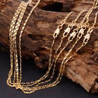 Oro amarillo de cadena collar cubana al por mayor mujer hombre joyería