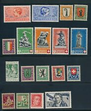 SWITZERLAND *18 SEMIS* (3) COMPL SETS; ALL MINT