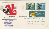 Germany 1961 Frankfurt-Tokyo 1st Flight Airmail LH 640 Stamps Cover Ref 29375