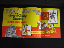 Walt Disney 1969 8mm Classics Home Movies Poster Dumbo Snow White Bambi VF