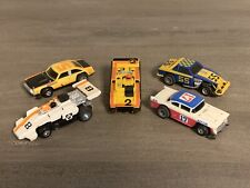 Vintage 1977 TCR - Total Control Racing Slotless Ideal. Lot Of 5 Cars non-tested