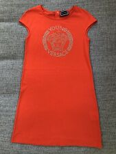 Girls Young Versace Medusa Head Orange Dress Worn Once £185 Age 10