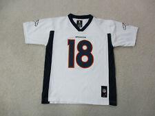 Peyton Manning Denver Broncos Football Jersey Youth Large White Blue Kids Boys *