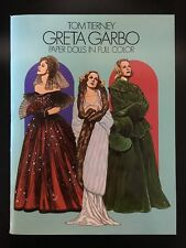 Greta Garbo Paper Dolls in Full Color by Tom Tierney FREE SHIPPING