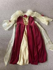 BELLE DRESS DISNEY VELOUR 7-8 YRS FANCY PARTY XMAS DRESSING UP HALLOWEEN FUN