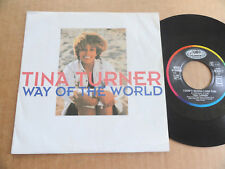 "DISQUE 45T DE TINA TURNER  "" WAY OF THE WORLD """