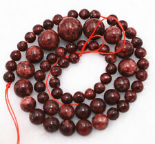 "New 6-14mm Uruguay Red Ruby Zoisite Round Loose beads 17"" AAA+"
