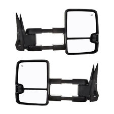 New Power Heated Smoke LED Signal Tow Mirrors for Silverado Sierra 07-13 Pair