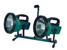 PROJECTEUR A POSER PORTATABLE 2 SPOTS  ECONOMIE ENERGIE LAMPE NEUF  53