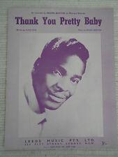 Sheet Music - Thank You Pretty Baby - Brook Benton 1959 *Rare*