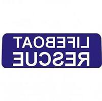 LIFEBOAT RESCUE BLUE with REVERSED WHITE Text univisor Sign visor