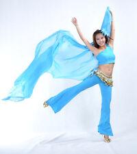 New Belly Dance Costume Gold Trim Chiffon Shawl Veil 250x120cm 13 colors