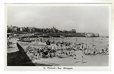 St Mildred's Bay - Westgate Real Photo Postcard c1950